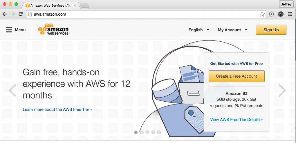 Setting up for Amazon Web Services